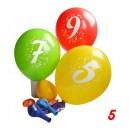 Balonky s potiskem čísla 5, 3 ks