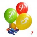 Balonky s potiskem čísla 7, 3 ks