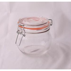 Dóza sklo, patentní uzávěr, 450 ml