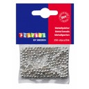 Korálky metalické 250 ks - stříbrné