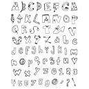 Gelová razítka- Abeceda a čísla obrázková