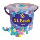 Korálky zažehlovací velké- maxi XL v kbelíčku- 950ks pastel barvy