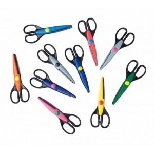Nůžky konturovací- prodej celé balení- 10 různých kusů, cena za 10 ks
