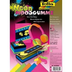 Pěnovka - neonové barvy 5 ks ,20x29 cm