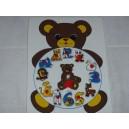 Puzzle hodiny medvěd dřevěné