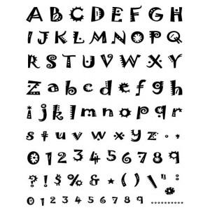 Razítka gelová - Gelová razítka- abeceda