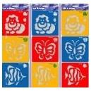 Šablony3 ks- lev, motýl, ryba