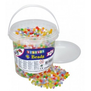 Zažehlovací korálky- 5000 ks korálků- kbelík, perleťové barvy