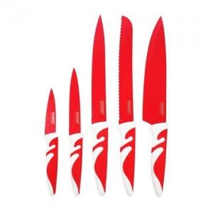 BANQUET Sada nožů s nepřilnavým povrchem SYMBIO NEW Rosso, 5 ks