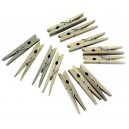 Kolíčky na prádlo 24 ks, dřevo