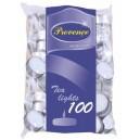 Svíčka čajová 100 ks, bílá